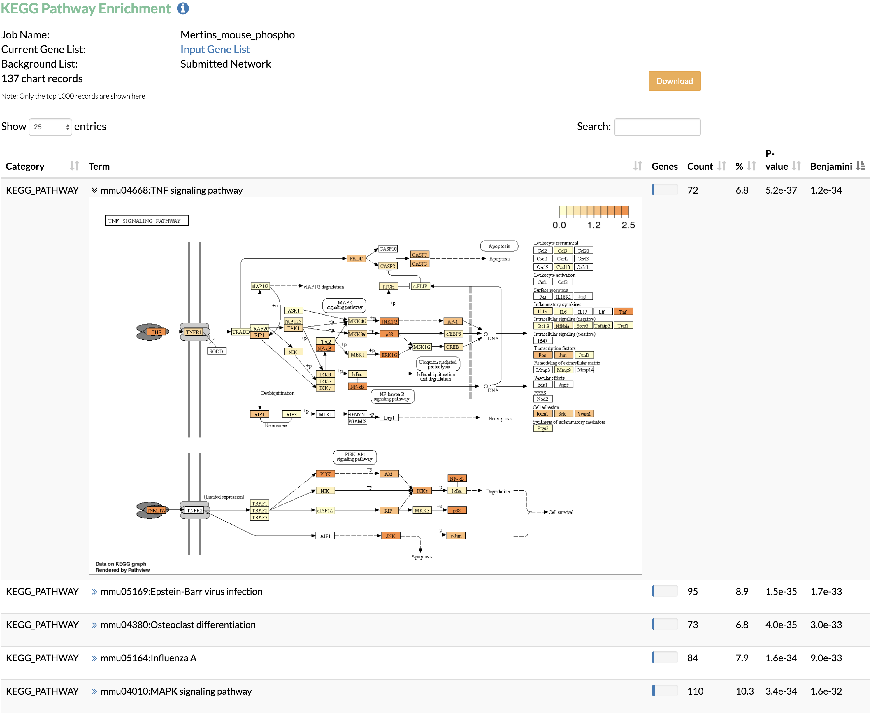 TimeXNet Web - Identify active gene networks and pathways